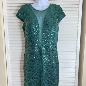 STUNNING - Emerald Sequin Dress